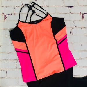 Livi Active by Lane Bryant neon tank top 18/20